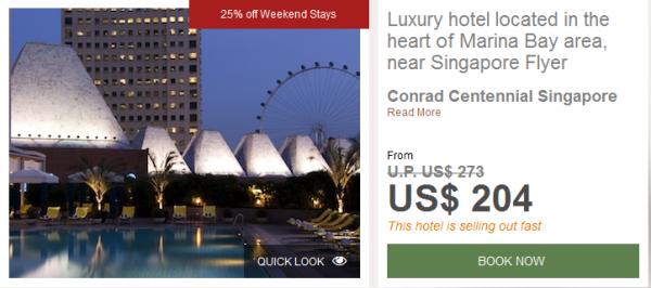 Hilton Conrad Singapore 25 Percent Off Weekend Stays Conrad