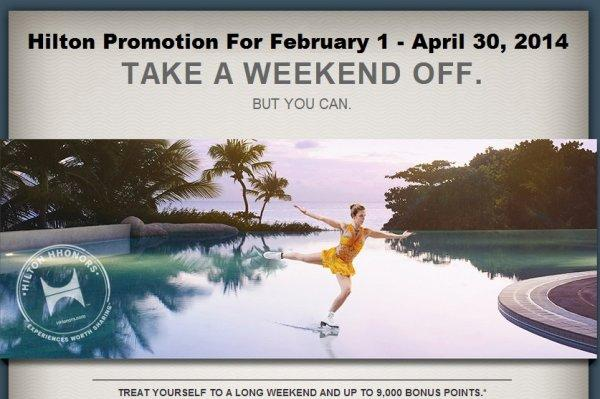hilton-hhonors-promotion-take-a-weekend-off
