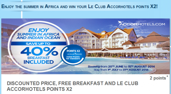 Le Club Accorhotels Africa Double Points