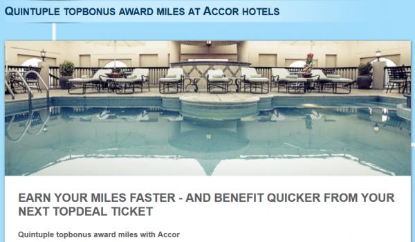 Le Club Accorhotels Airberlin Quintuple Miles Offer + 1,000 Bonus Miles