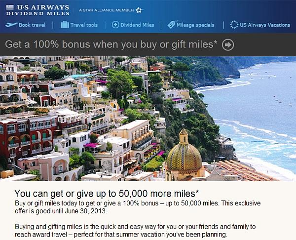 us-airways-dividend-miles-buy-gift-100-bonus-june-2013