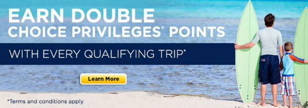 Choice Privileges Double Points Promo Europe Africa