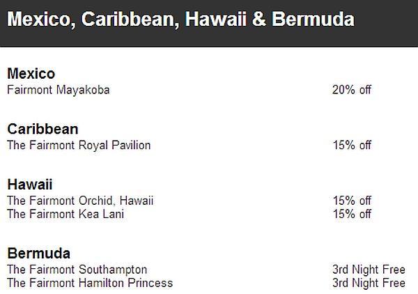 fairmont-winter-double-miles-rate-mexico-caribbean-hawaii-bermuda
