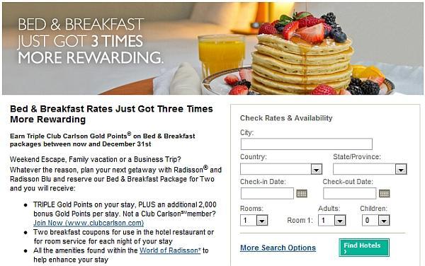 radisson-breakfast-package