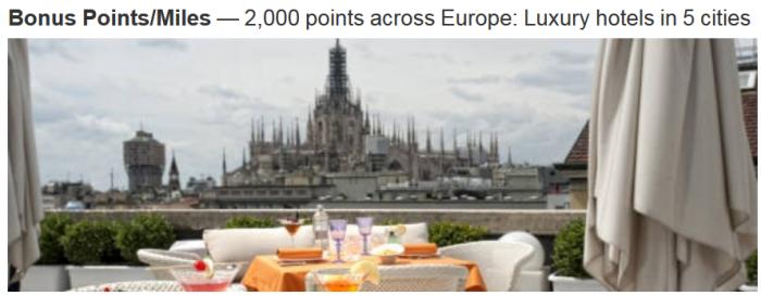 Marriott Rewards Boscolo 2,000 Bonus Points March 1 April 30 2015