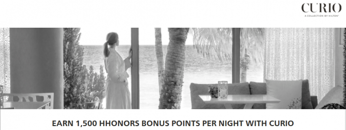 Hilton HHonors Curio Collection 1500 Bonus Points Per Night April 1 July 31 2015