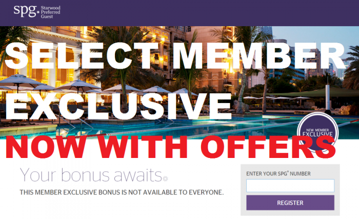 SPG Select Member Exclusive 6 With Offers