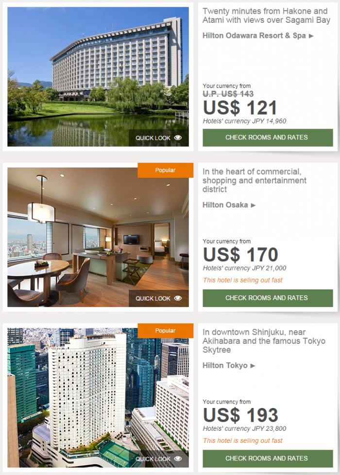 Hilton Asia-Pacific Website Japan Korea Guam