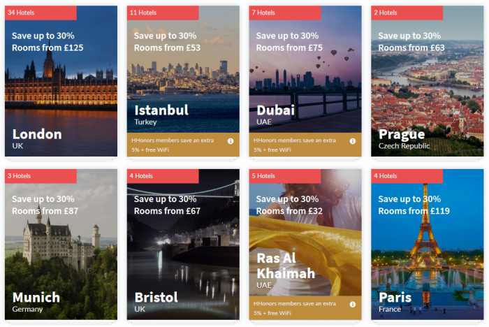 Hilton HHonors Europe Middle East Africa Summer Weekends Up To 35 Percent off Sale Tiles 1