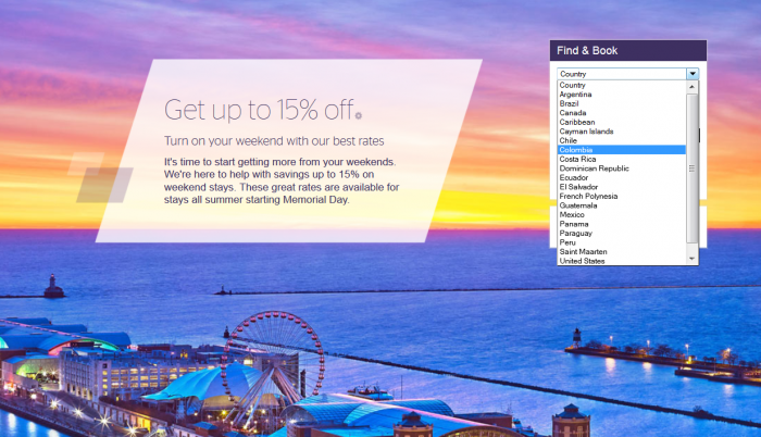 Starwood Americas Weekends 15 Percent Off