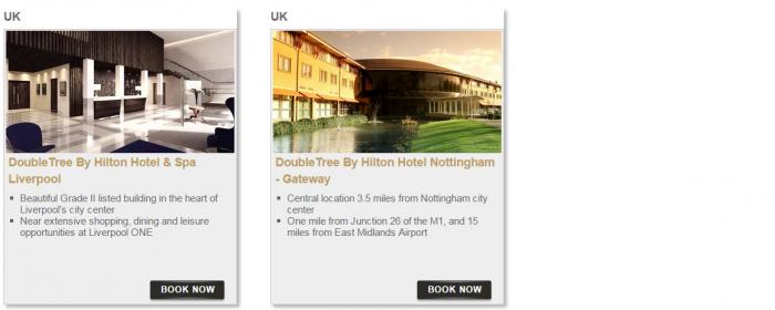 Hilton HHonors Bonus Miles Package Europe Middle East Africa 10