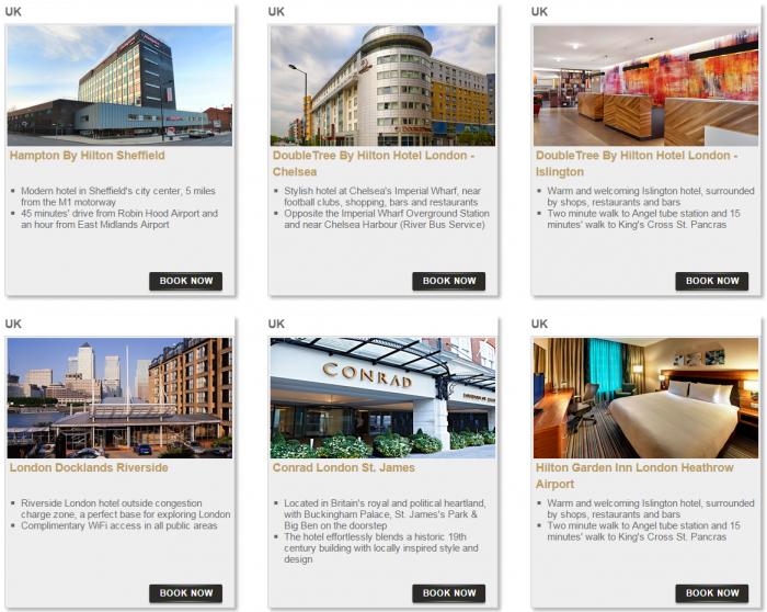 Hilton HHonors Bonus Miles Package Europe Middle East Africa 9