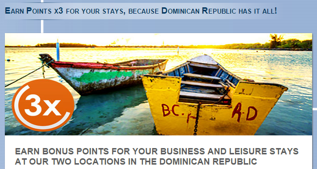 Le Club AccorHotels Triple Points Dominican Republic September 21 - December 31 2015