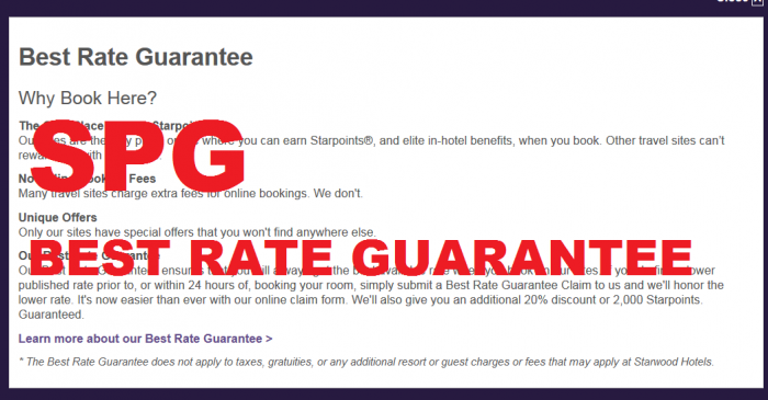 SPG Best Rate Guarantee