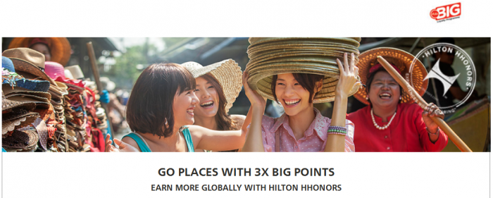 Hilton HHonors AirAsia Triple Big Points November 1 - January 31 2016