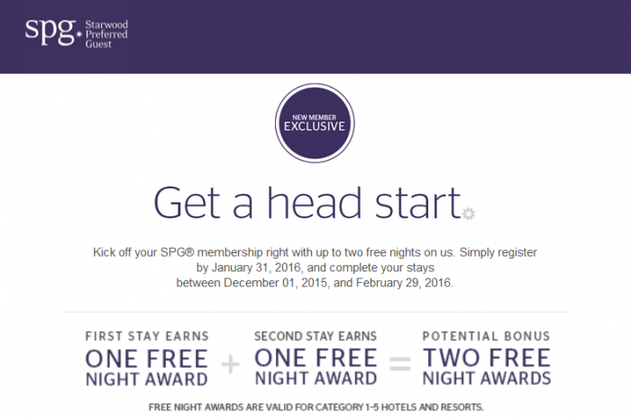 SPG New Member Exclusive December 1 February 29 2016