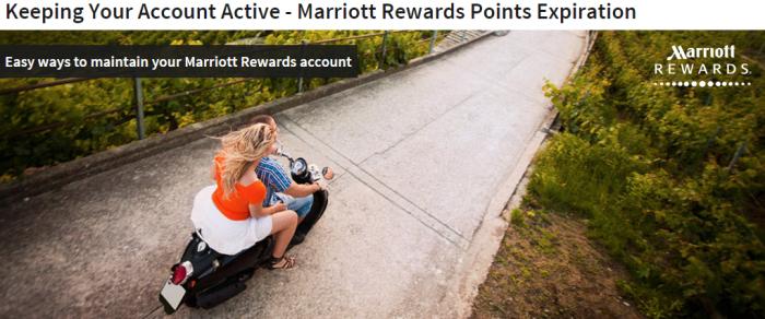 Marriott Rewards Points Expiry Update