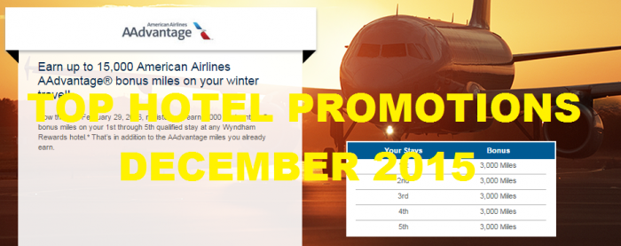 Top Hotel Promotions December 2015