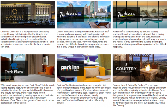 Club Carlson 5,000 Bonus Points Two Brands January 17 - March 31 2016 Brands