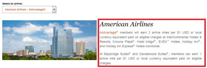 IHG Rewards Club Double Up Miles January 1 - April 30 2016 Participating Airlines AA