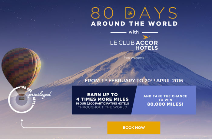 Le Club AccorHotels Singapore Airlines KrisFlyer Double To Quadruple Points February 1 - April 20 2016