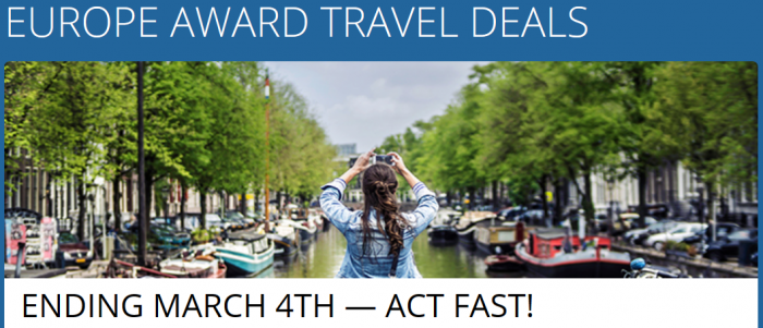 Delta SkyMiles Europe Award Sale March 4 - May 31 2016
