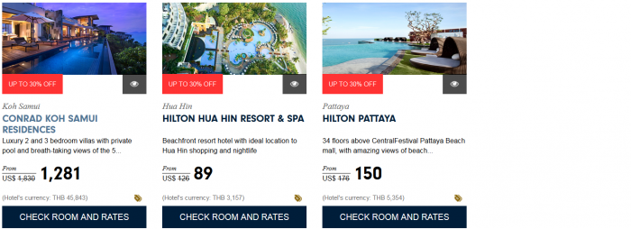 Hilton HHonors Asia Pacific Up To 30 Percent Off Sale For Stays December 31 2016 Thailand 3