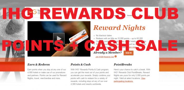 IHG Rewards Club Points + Cash Sale