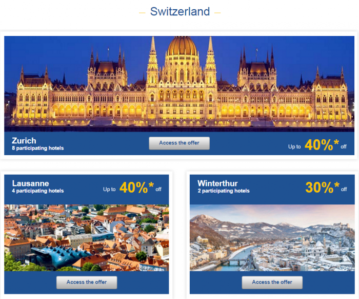 Le Club AccorHotels Weekly Up To 50 Percent Off Europe Private Sales February 15 - 22 Switzerland 1