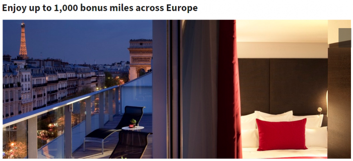 Marriott Rewards 500 to 1,000 Bonus Miles For Stays In Europe February 1 - April 25 2016