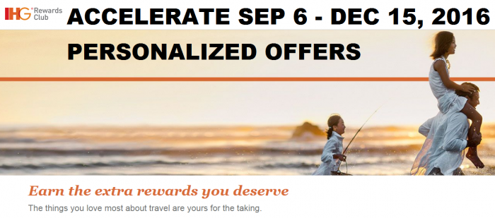 IHG Rewards Club Accelerate Fall 2016 Promotion