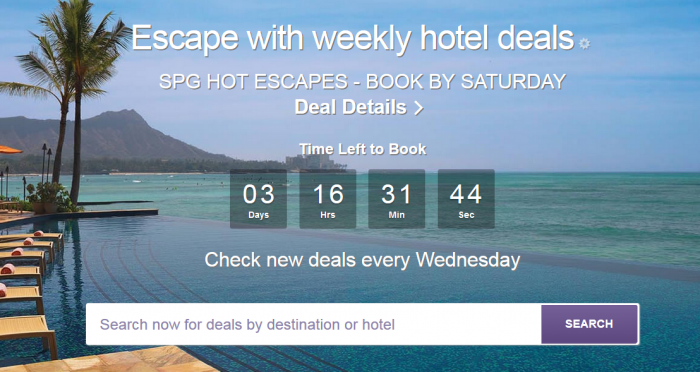 SPG Hot Escapes August 31 2016