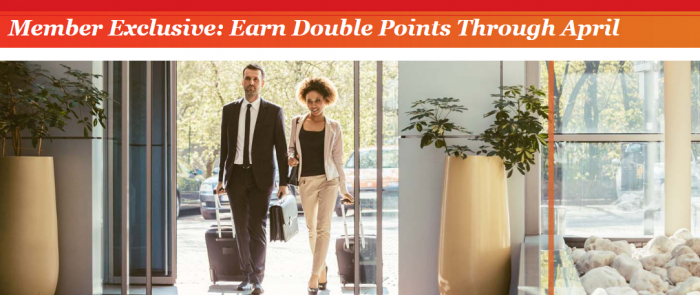 IHG Rewards Club Double Points Select Corporatations + 1,000 Extra Per Stay In New York & Chicago February 1 - April 30 2017