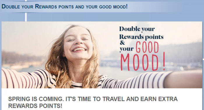 Le Club AccorHotels France Double Points March 10 - May 1 2017