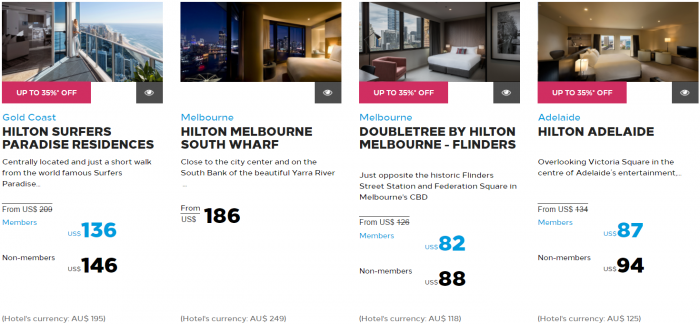 Hilton Honors Asia-Pacific Up To 40 Percent Off Flash Sale May 2017 Australia New Zealand South Pacific 2