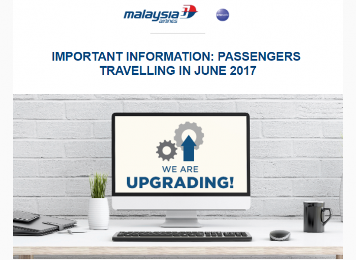 Malaysia Airlines System Change