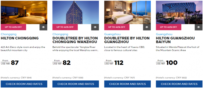 Hilton Honors Greater China Summer Sale 6
