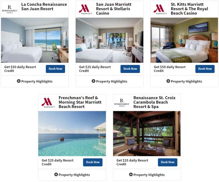Marriott Rewards Summer Resort Credit Promotion 4