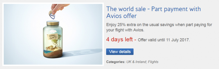 British Airways Executive Club Avios Part Payment 25% Extra By July 11 2017