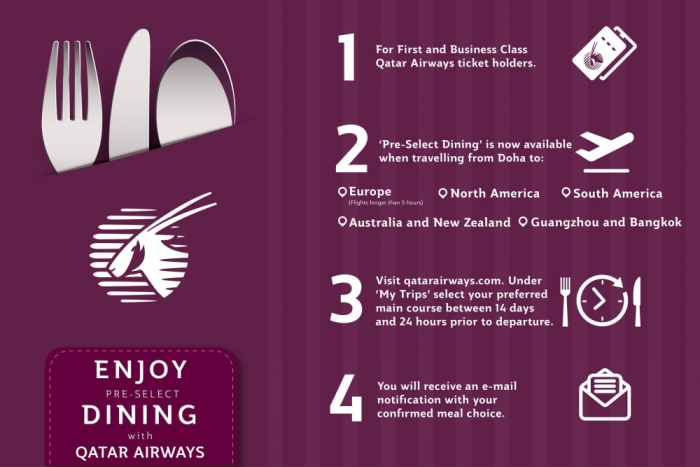 Qatar Airways Pre-Select Dining
